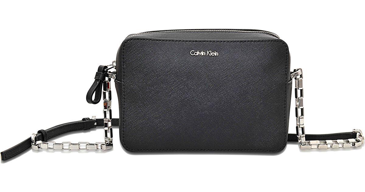 3d5d8ea3ecc1 Calvin Klein Sofie Mini Crossbody Bag in Black - Lyst