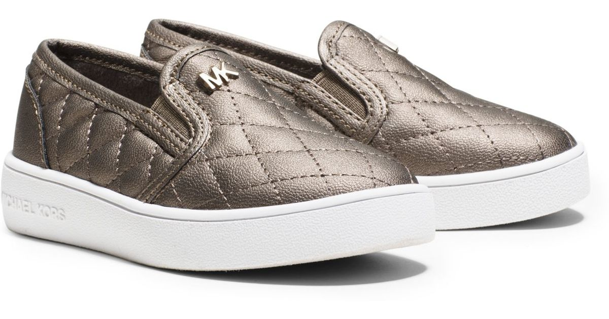 Lyst - Michael kors Girl's Ivy Quilted Metallic Slip-on Sneaker ... : michael kors quilted sneakers - Adamdwight.com