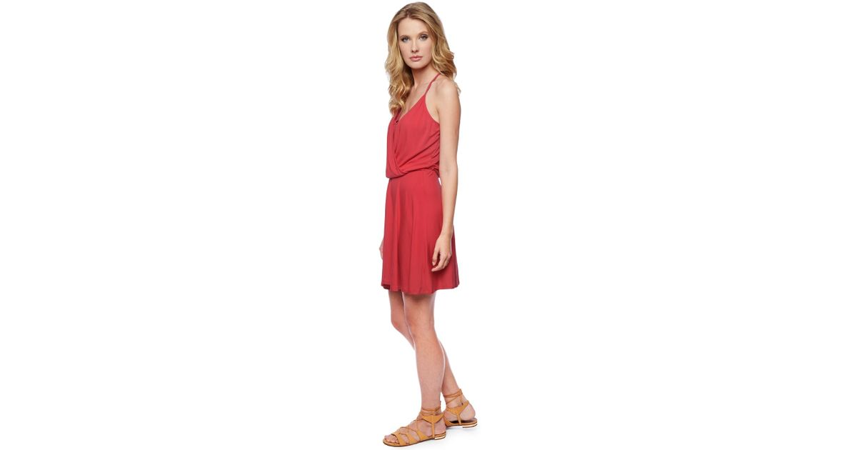 0e6cca6a60b Ella moss Bella Surplice Dress in Red