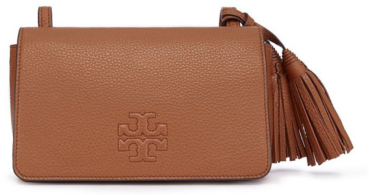 122211030b35 ... where to buy lyst tory burch thea mini bag in brown dc065 c503d