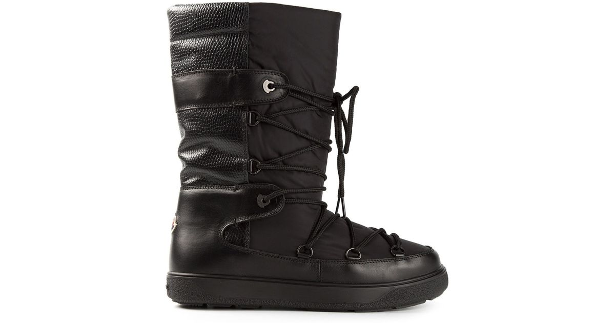b544131c5fea Lyst - Moncler Fanny Snow Boots in Black