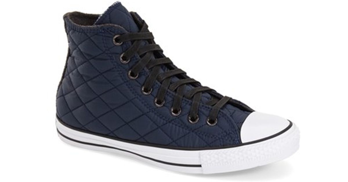 847230f3510a Lyst - Converse Chuck Taylor All Star Quilted High-Top Sneakers in Black  for Men
