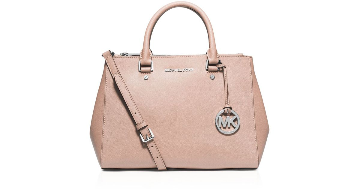 545a5bc52886 MICHAEL Michael Kors Satchel - Sutton Medium in Pink - Lyst