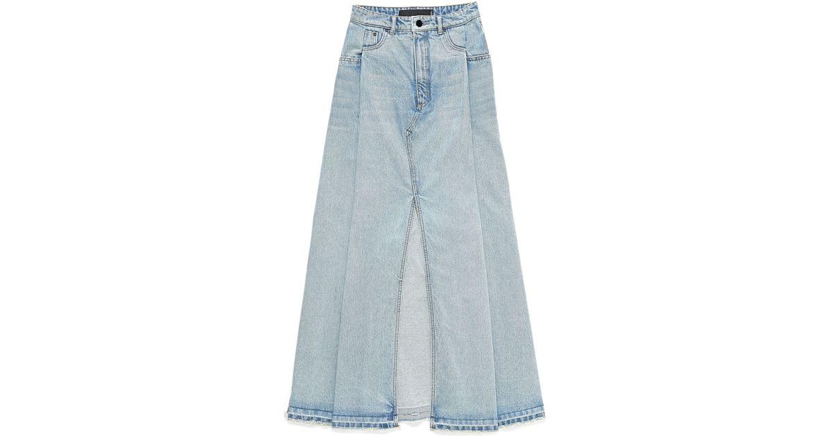 Long White Denim Skirt