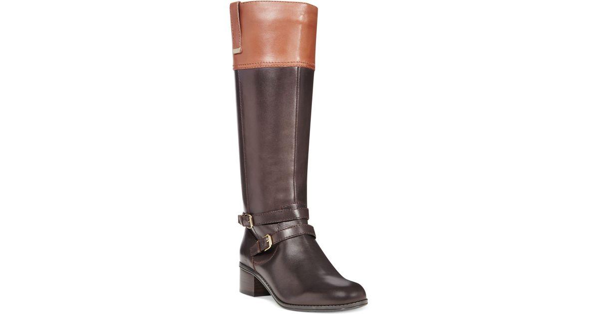 a3690bd3db7 Bandolino - Brown Carlotta Tall Riding Boots - A Macy'S Exclusive - Lyst