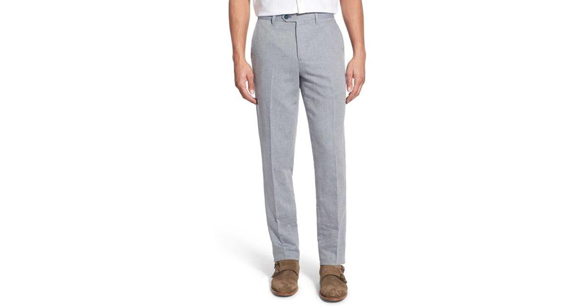 65a97258843b62 Lyst - Ted Baker  poptros  Slim Fit Herringbone Trousers in Blue for Men