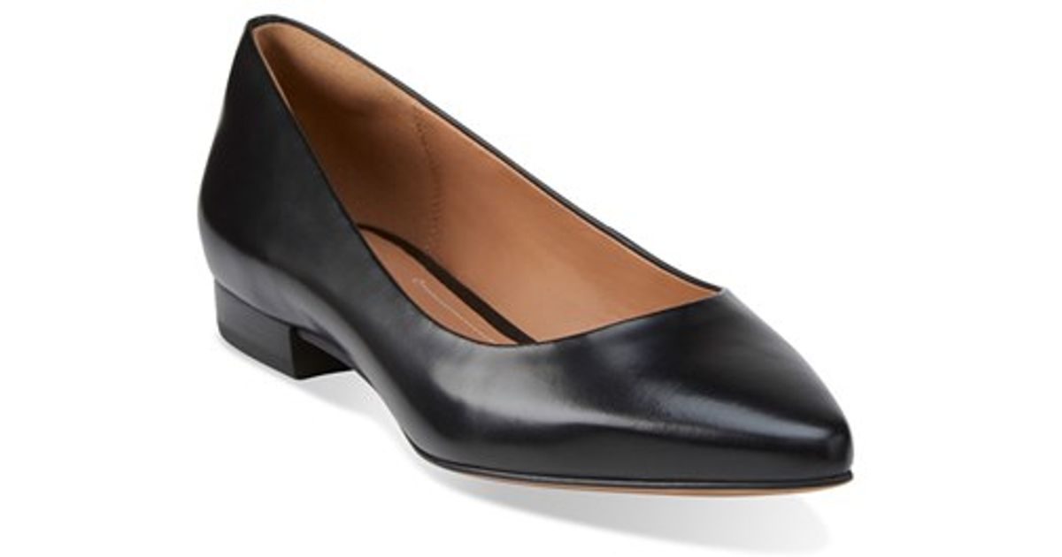 fb097286785 Lyst - Clarks  Corabeth Abby  Pointy Toe Flat in Black
