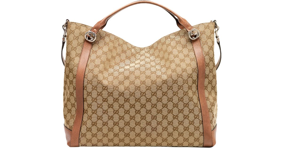 35fd904a4822c Lyst - Gucci Miss Gg Original Gg Canvas Top Handle Bag in Brown
