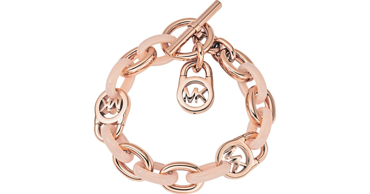 michael michael kors armband rose gold blush in metallic lyst rh lyst co uk