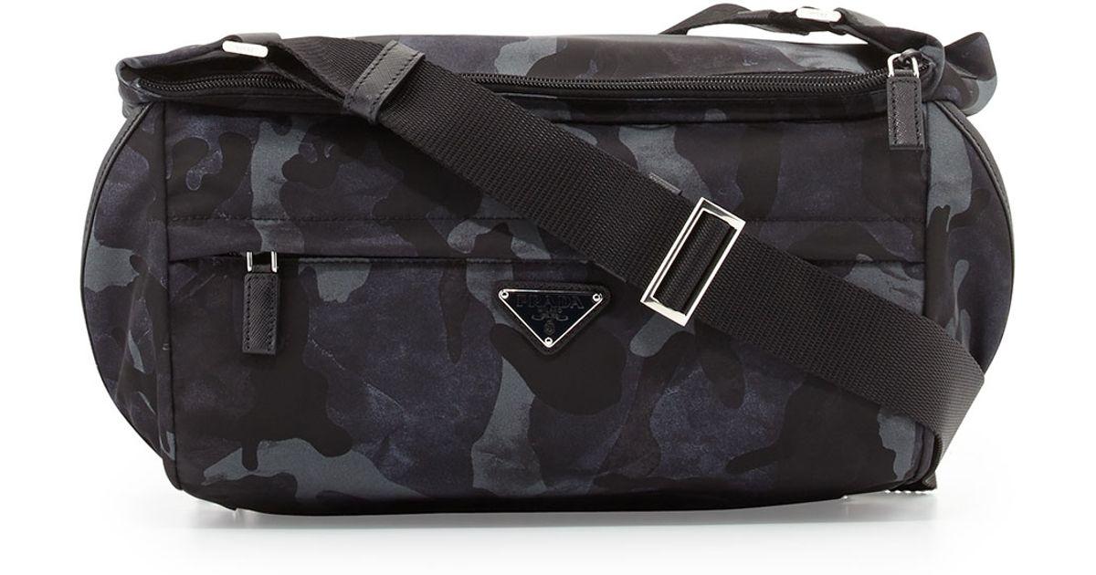 d343c0966797 Prada Camo Nylon Medium Messenger Bag in Blue for Men - Lyst