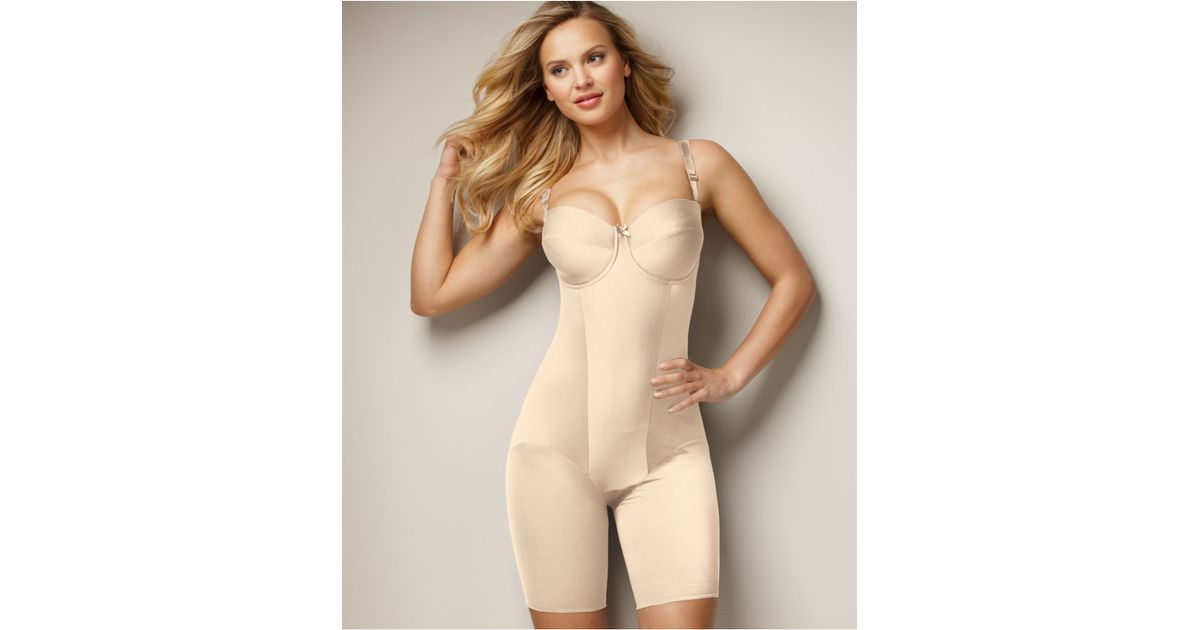 b8a09493c7b Miraclesuit Extra Firm Control Strapless Thigh Slimming Body Shaper 2791 in  Natural - Lyst