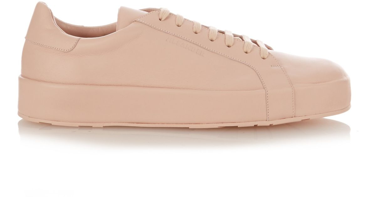 Low-top leather trainers Jil Sander Clearance Footlocker Pictures Sale Cheap Prices RELczF5JQH