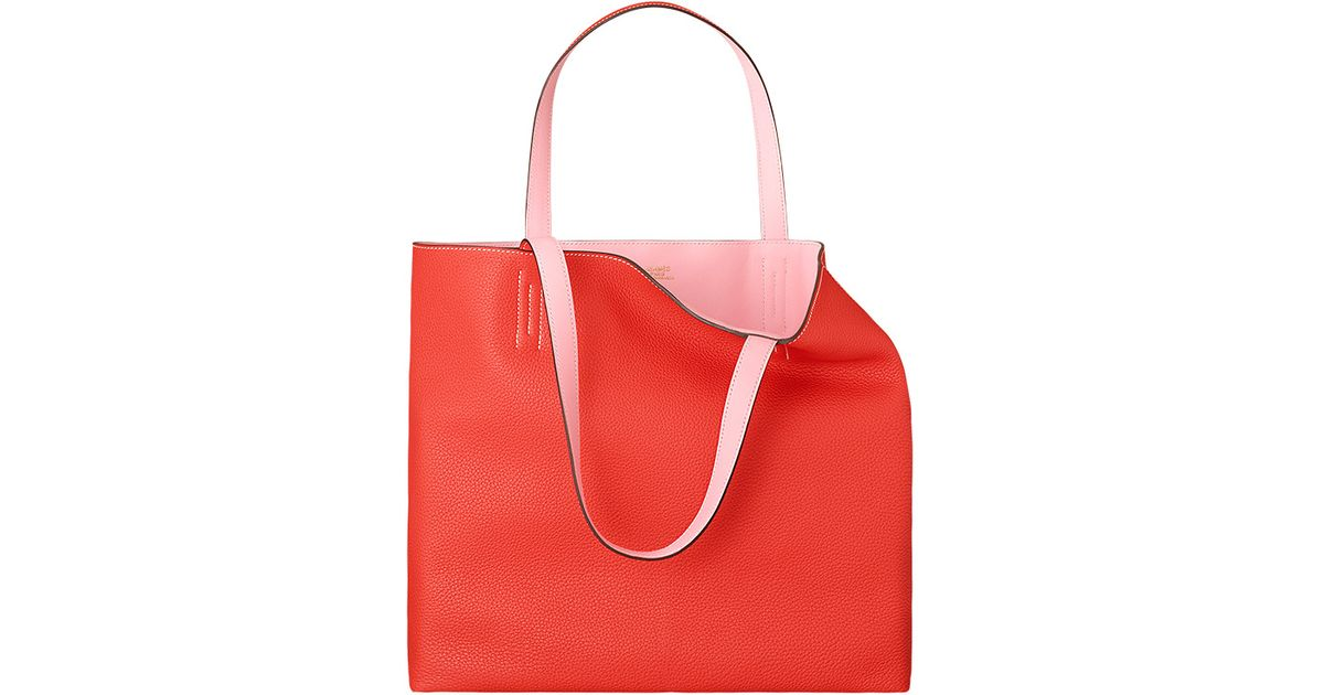 handbags hermes outlet - Herm��s Double Sens 45 in Orange (peony red) | Lyst