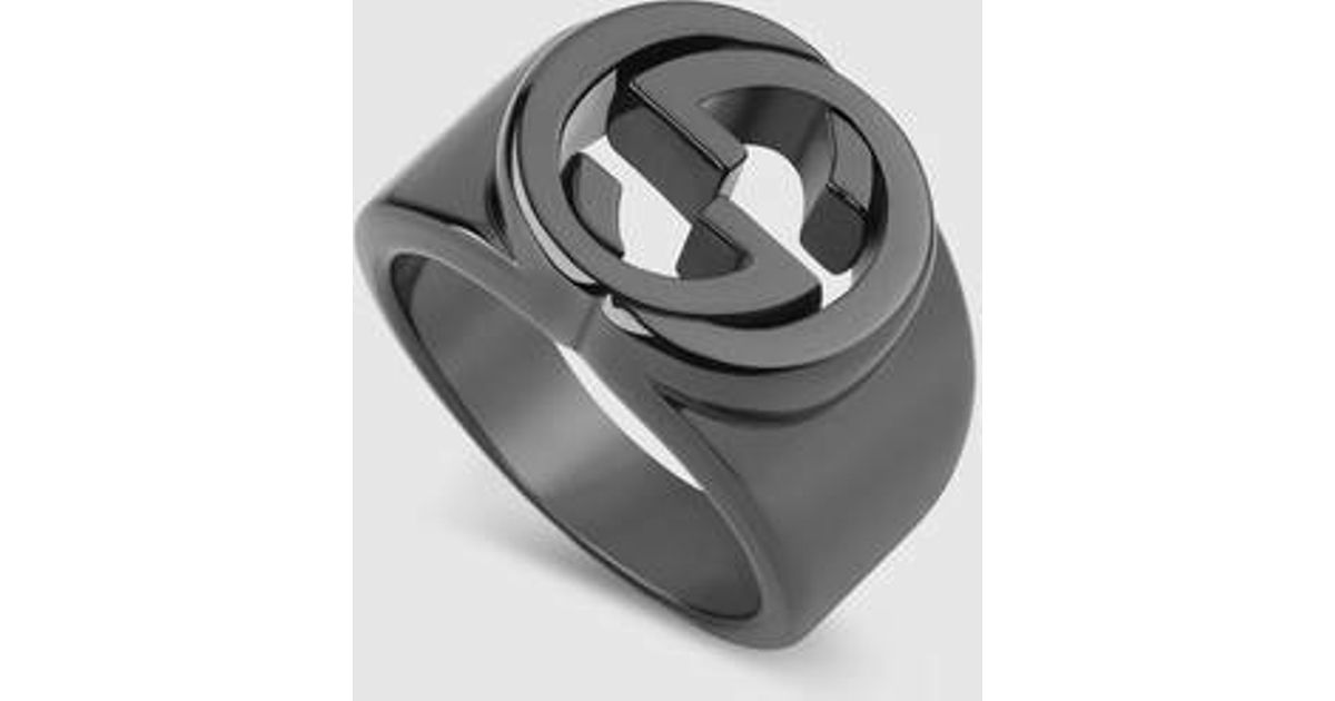 30be99156 Gucci Silver Ring With Interlocking G in Metallic for Men - Lyst