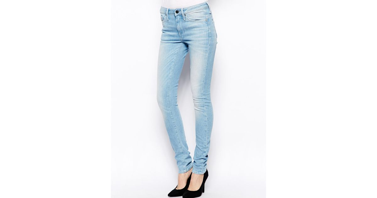 great variety styles how to get matching in colour G-Star RAW Blue Midge High Waist Skinny Jeans