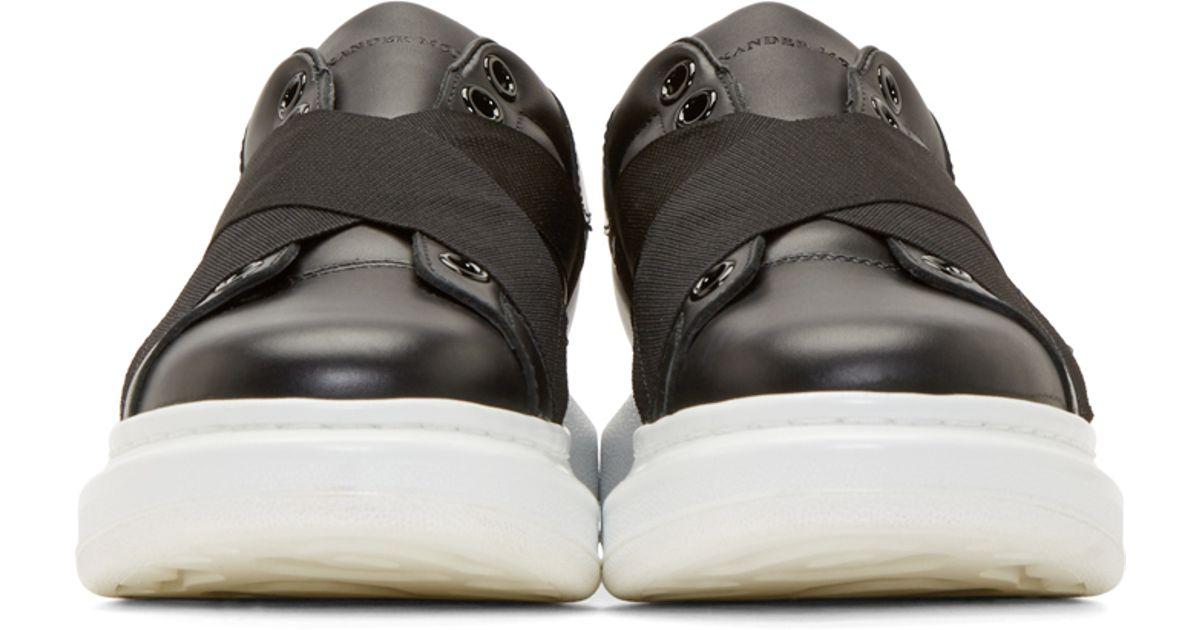 Alexander McQueen Black Relastic Sneakers cpBr6Kn