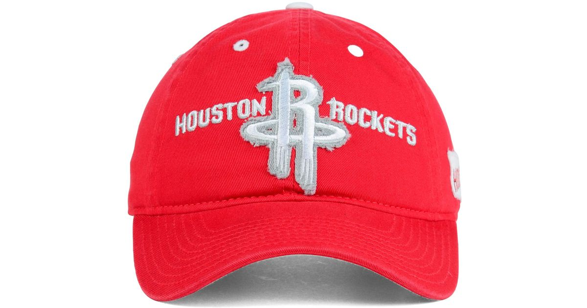 517b5f6622b20 Lyst - adidas Houston Rockets Tag Slouch Cap in Red for Men