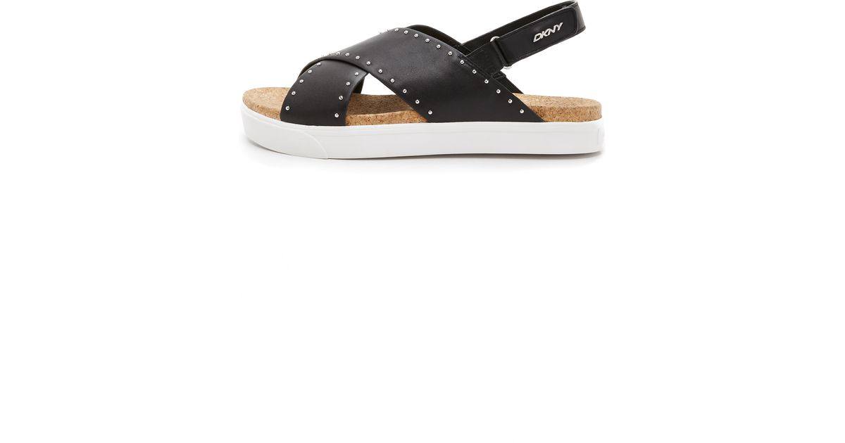dkny bethune sandals in black lyst