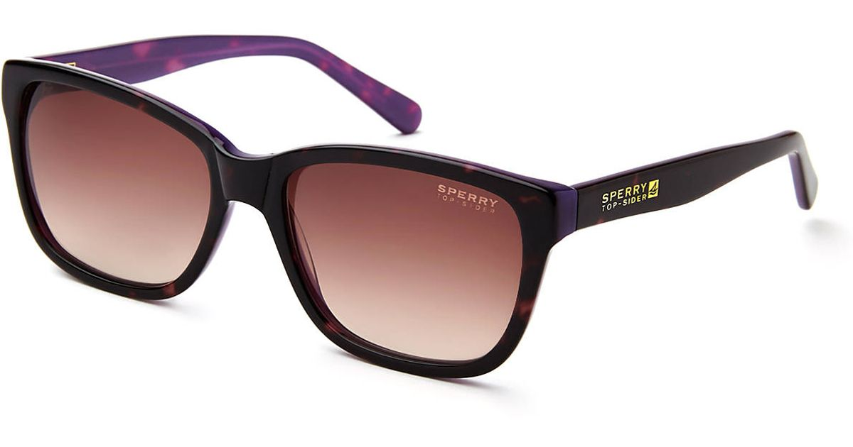 044e607e4a Lyst - Sperry Top-Sider Top-sider Wellfleet Two-tone Tortoiseshell Purple  Wayfarer Sunglasses in Purple