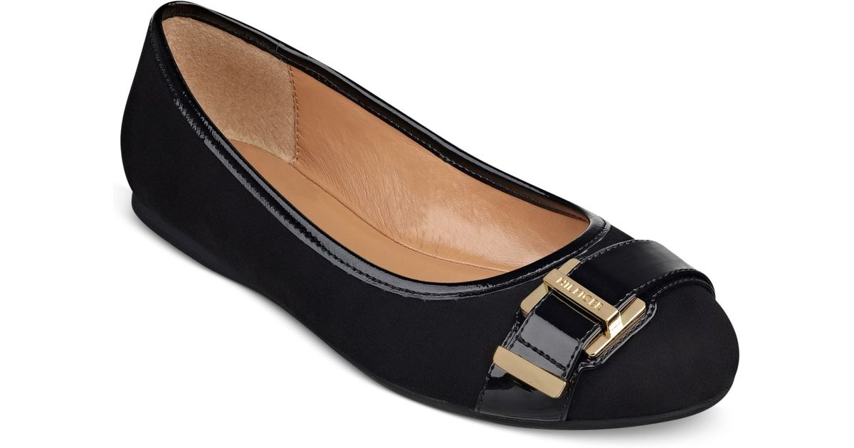 aa5c8a2a98a4 Lyst - Tommy Hilfiger Women S Cate Ballet Flats in Black