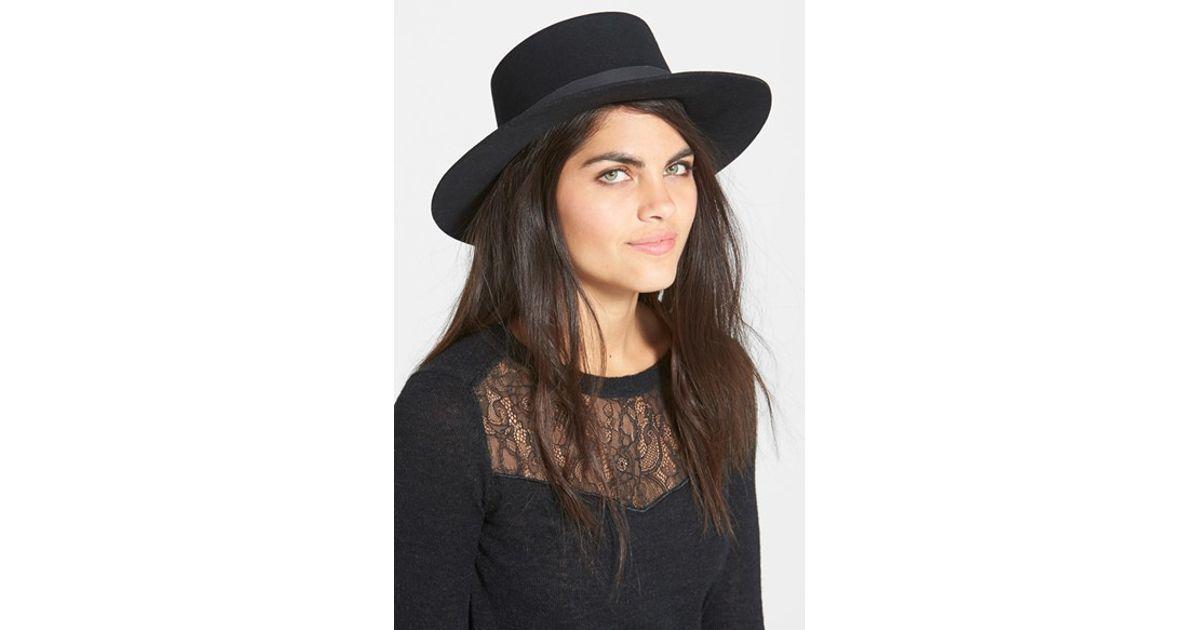 Lyst - Janessa Leone  gabrielle  Hat in Black 2b4f232923f