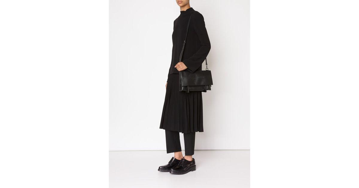 Lyst - Yohji Yamamoto  discord Geta  Shoulder Bag in Black 43d3e7ef4b78d