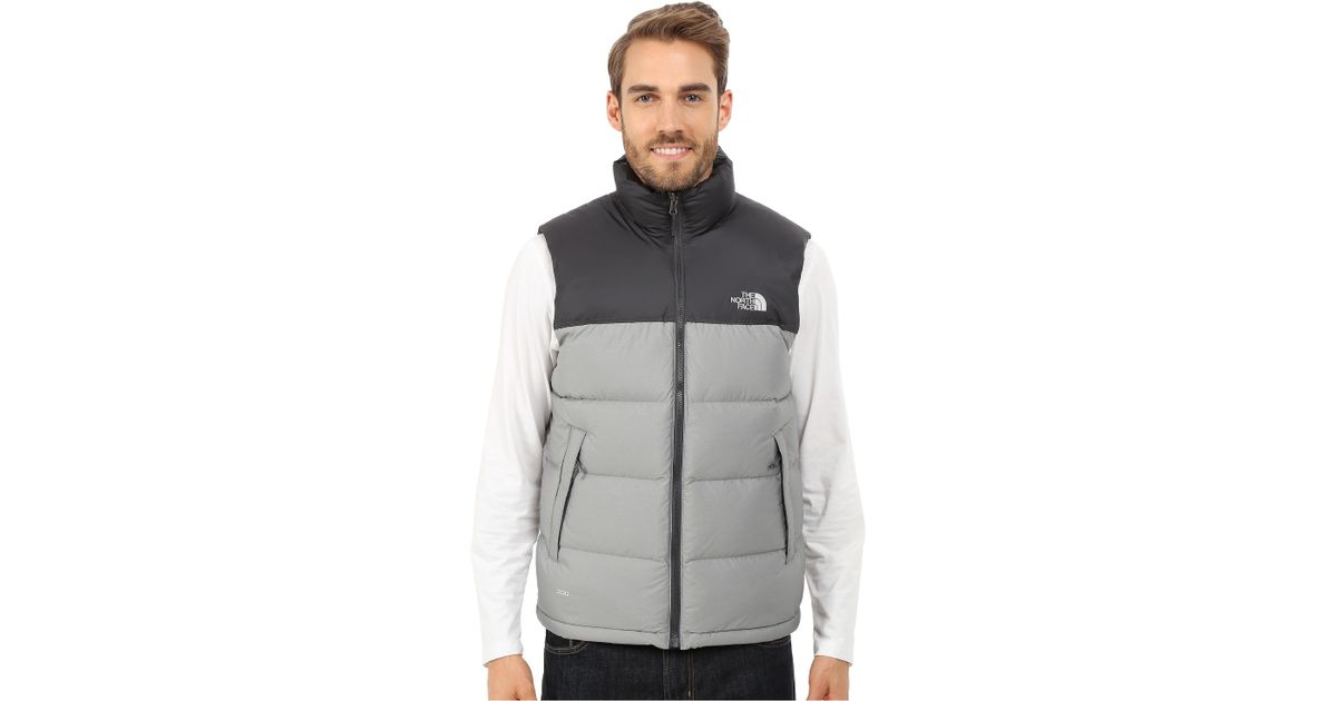 8fde7ae449 ... release date france lyst the north face nuptse vest in gray for men  4357d 62457 2b6cf ...