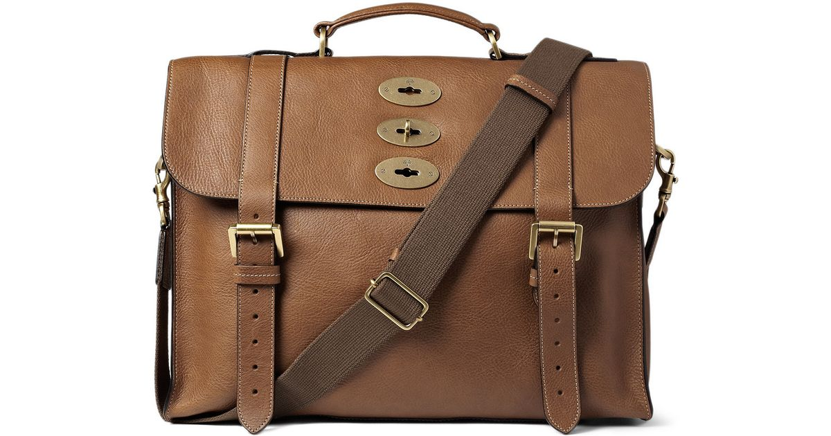 Lyst - Mulberry Ted Convertible Leather Messenger Bag in Brown for Men bae64e86ae