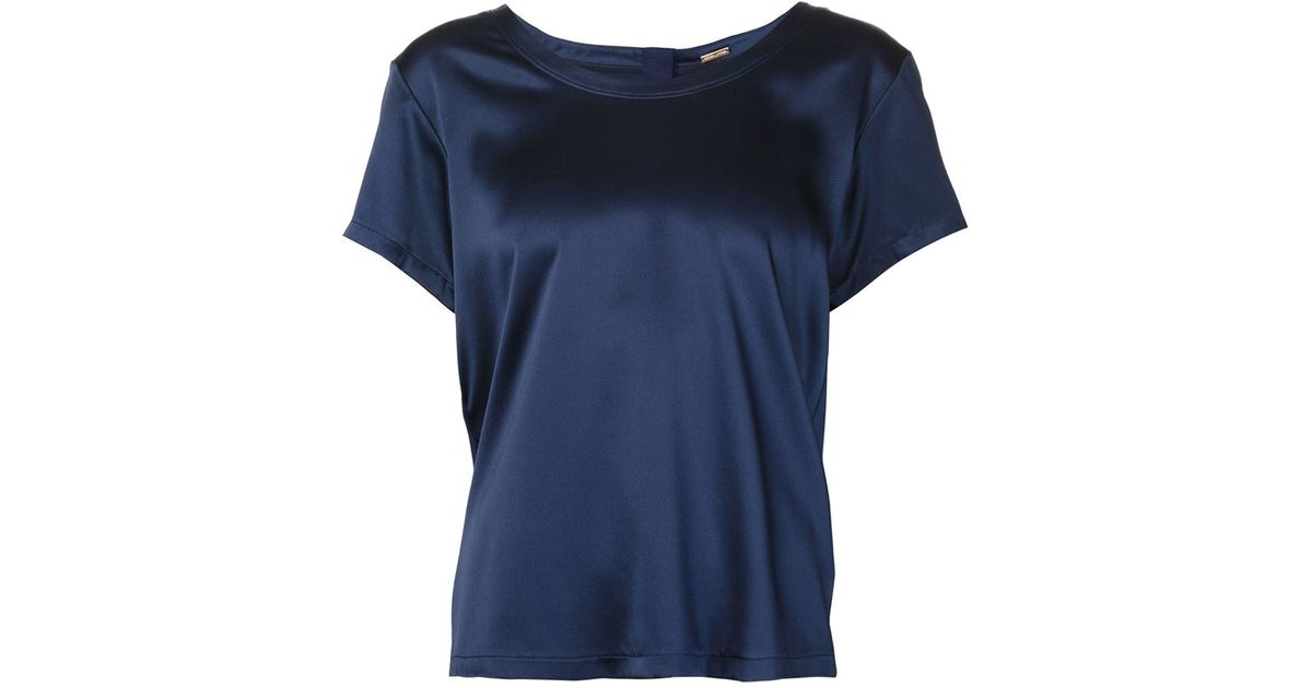 Lyst adam lippes scoop neck t shirt in blue for Adam lippes t shirt