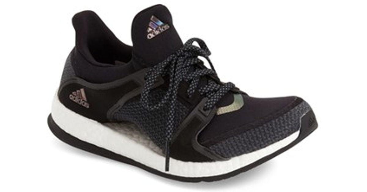 more photos 398a2 4bfc0 promo code for adidas originals pure boost x training shoe in black lyst  03c7c bdbb5