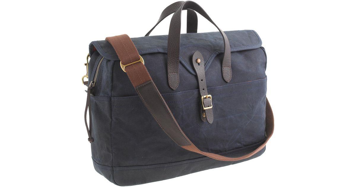 70d09a4d4b Lyst - J.Crew Abingdon Laptop Bag in Blue for Men