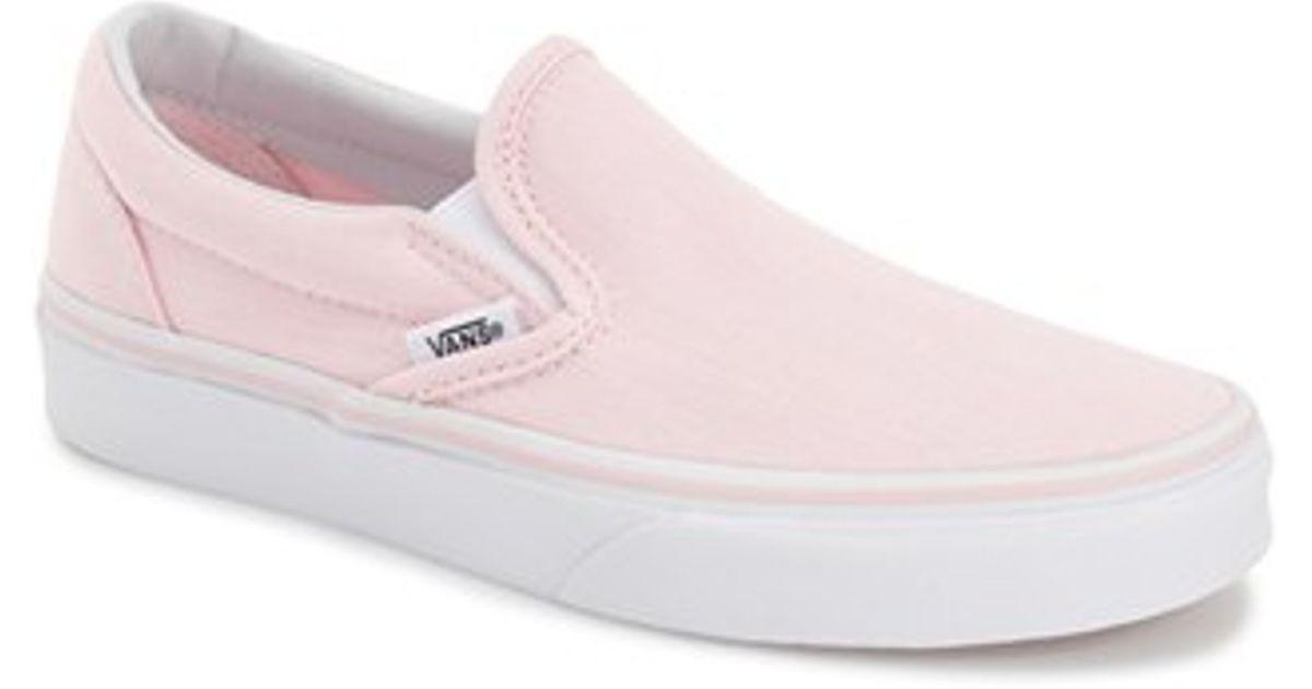 46bd8b9b2f87 Lyst - Vans  classic  Slip-on Sneaker in Pink