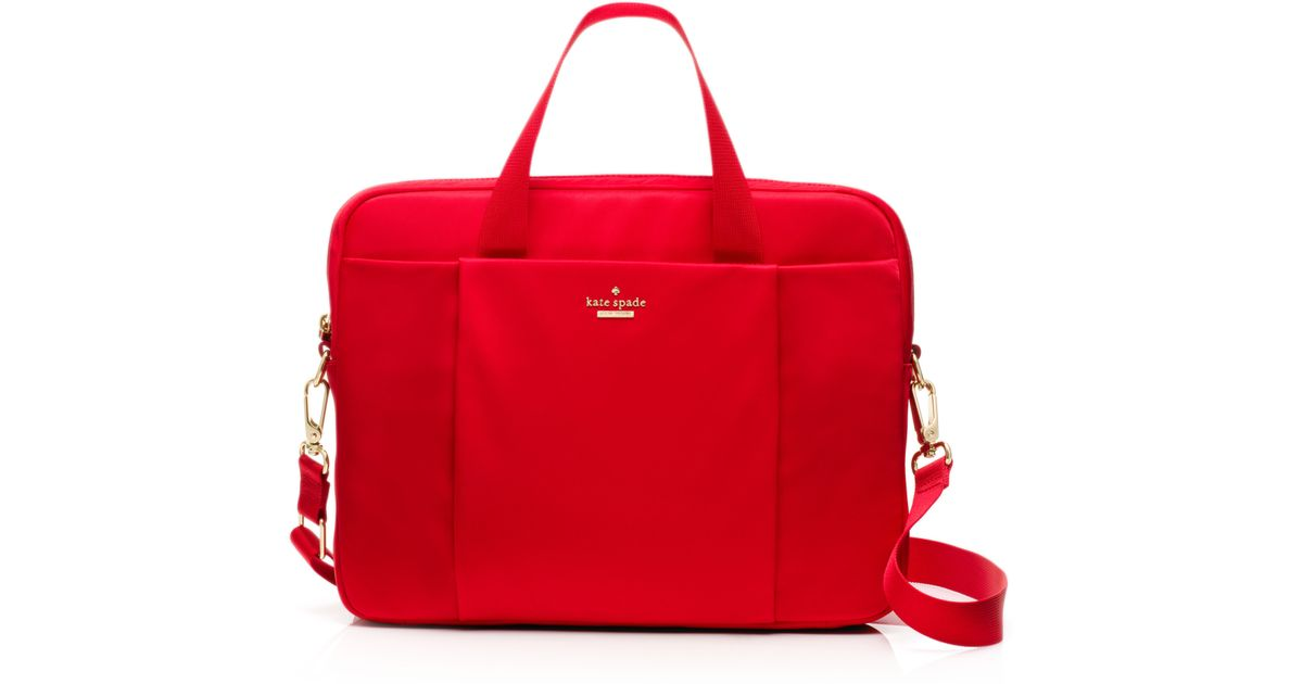 Lyst Kate Spade New York Classic Nylon Commuter Laptop Bag In Red
