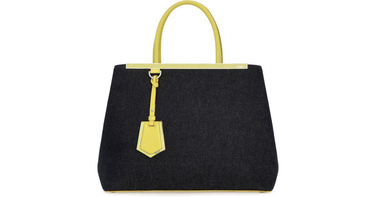 806fa7d548a6 Lyst - Fendi 2Jours Denim Shopping Tote Bag in Blue