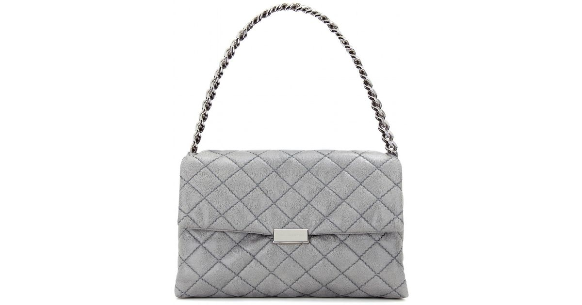 b7503ffff25 Lyst - Stella McCartney Soft Beckett Medium Quilted Shoulder Bag in Gray