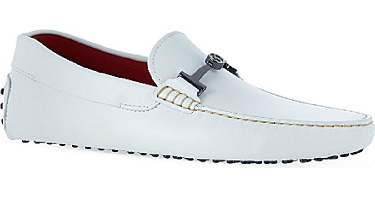 1a231cfe8e4 Tod s Ferrari Tt Leather Driving Shoes - For Men in White for Men - Lyst