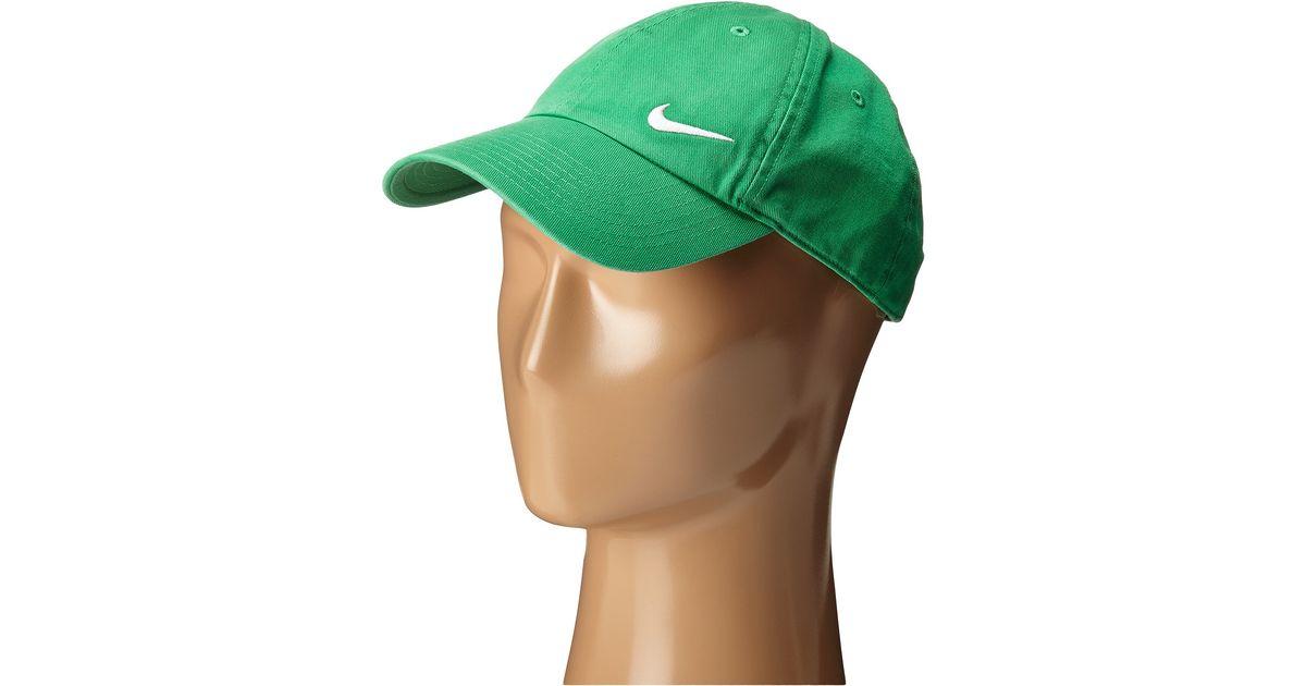 217fae46a5d Lyst - Nike Heritage 86 Swoosh Cap in Green for Men