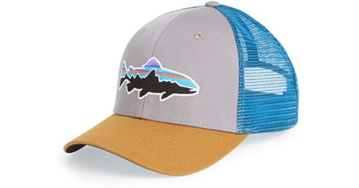 cecf62bc79465 Patagonia  fitz Roy - Trout  Trucker Hat in Blue for Men - Lyst