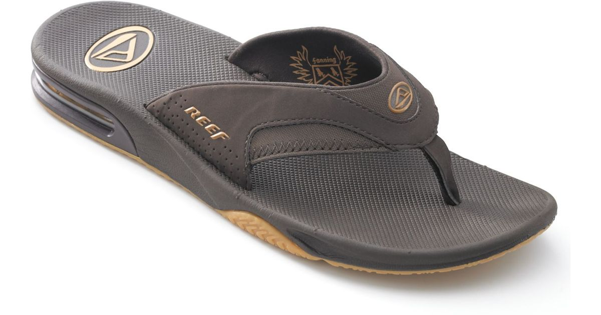 668268038b9b12 Lyst - Reef Men s Fanning Thong Sandals With Bottle Opener in Brown for Men