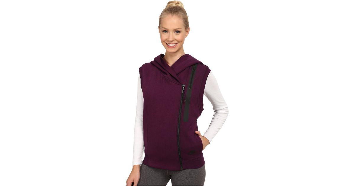 2c3acf18acfa Lyst - Nike Tech Fleece Vest in Purple