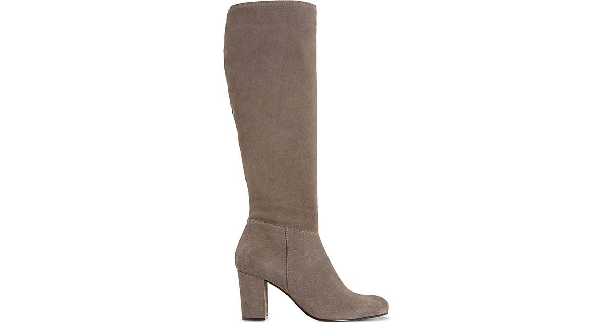 dune toulon suede knee high boots lyst