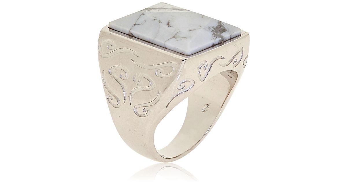Howlite Ring - New Photos From Believerbg.Com