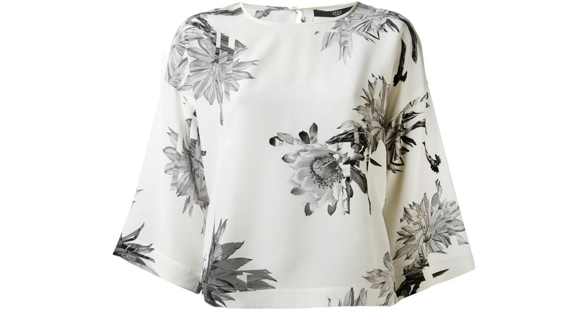 c712cc82e465e Lyst - Tibi Floral Print Blouse in White