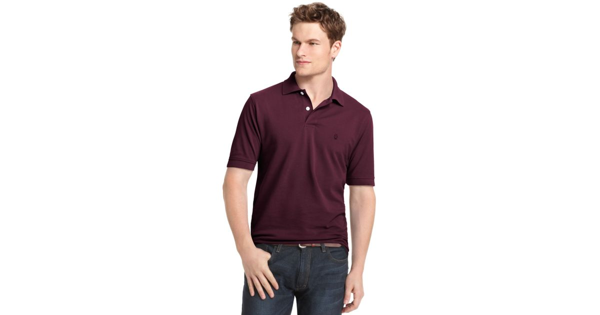 Izod big and tall heritage classic premium pique polo in for Izod big and tall essential solid shirt