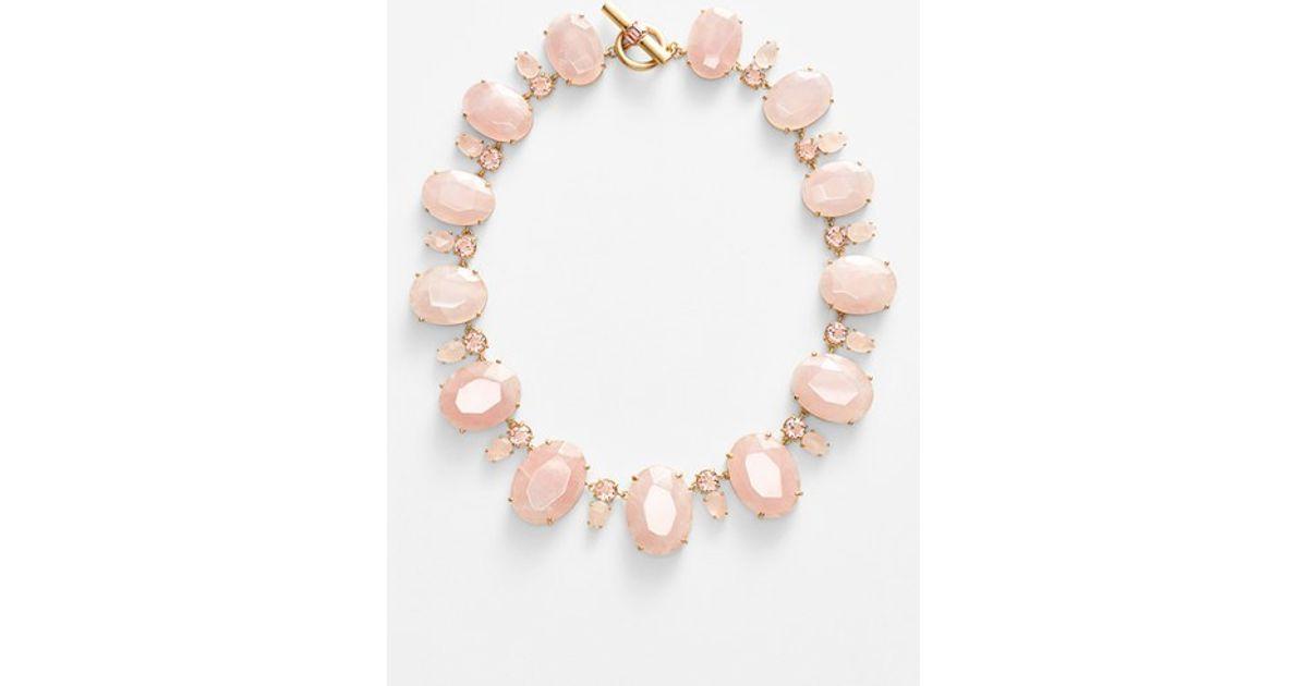 Lyst Lauren By Ralph Lauren Rose Quartz Collar Necklace in Pink