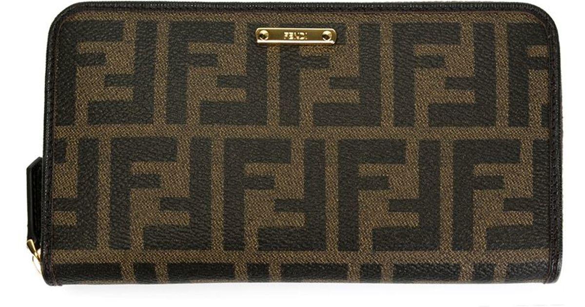 1dcfaa77236d Lyst - Fendi  zucca  Wallet in Black