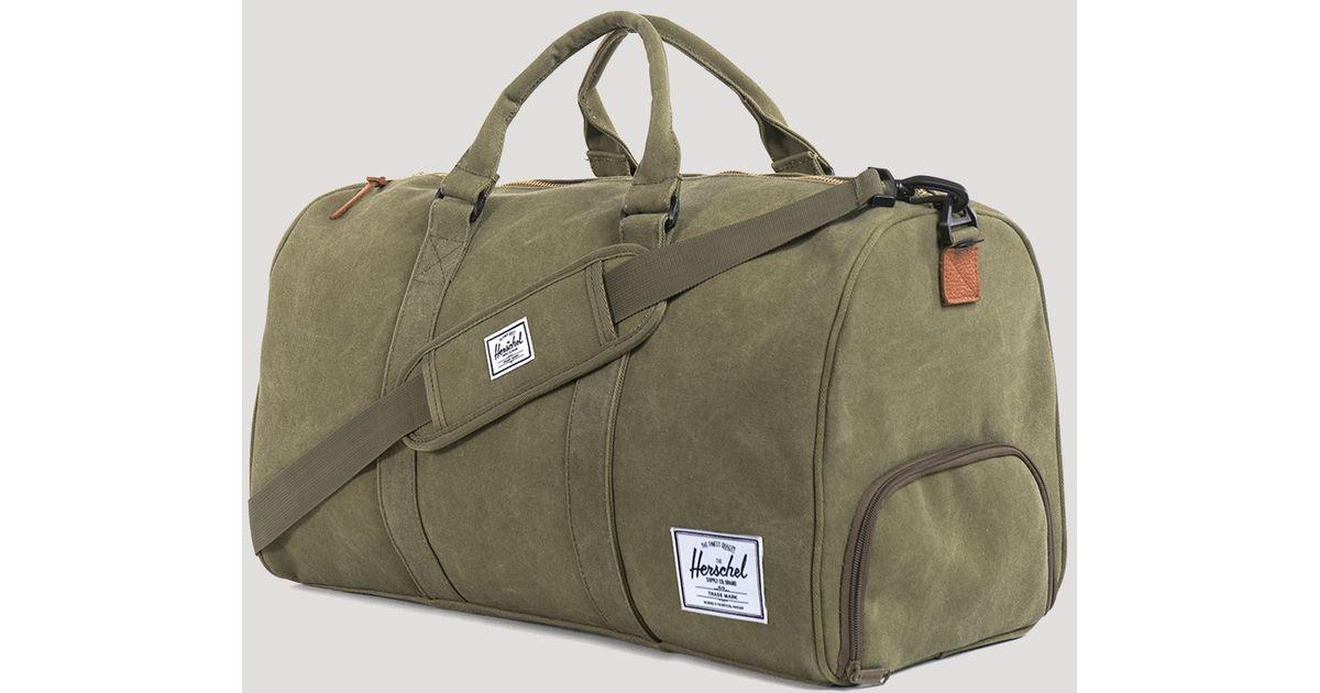 5c6a2e24499 Herschel Supply Co. Cotton Canvas Novel Duffel Bag in Green for Men - Lyst