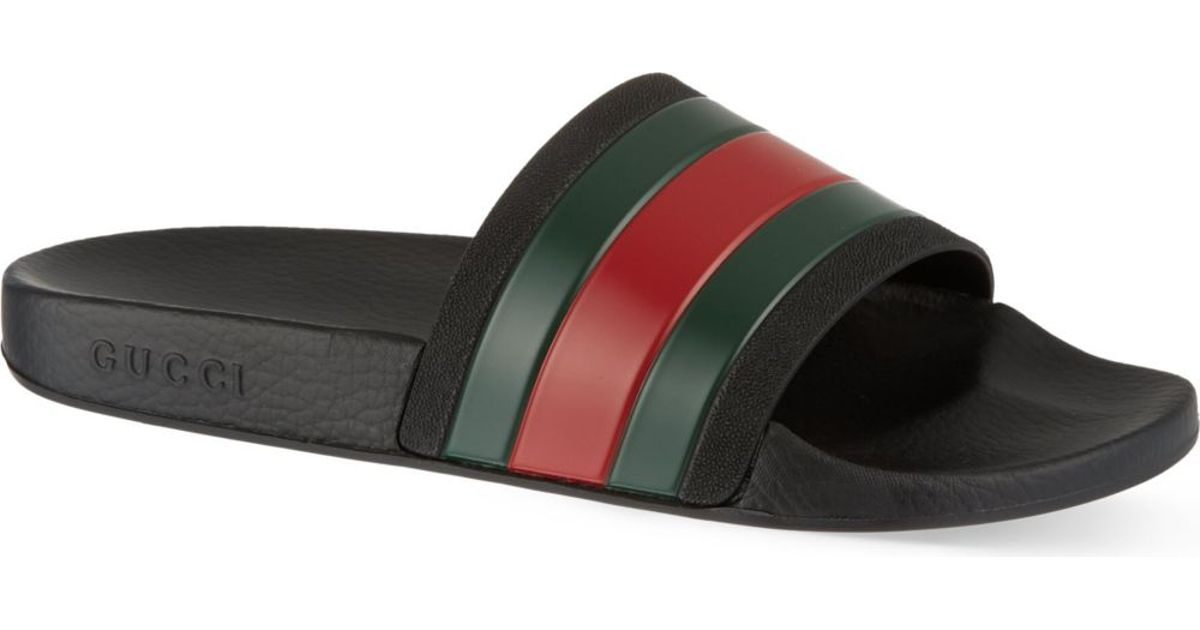 gucci pursuit striped sandals in green for men lyst