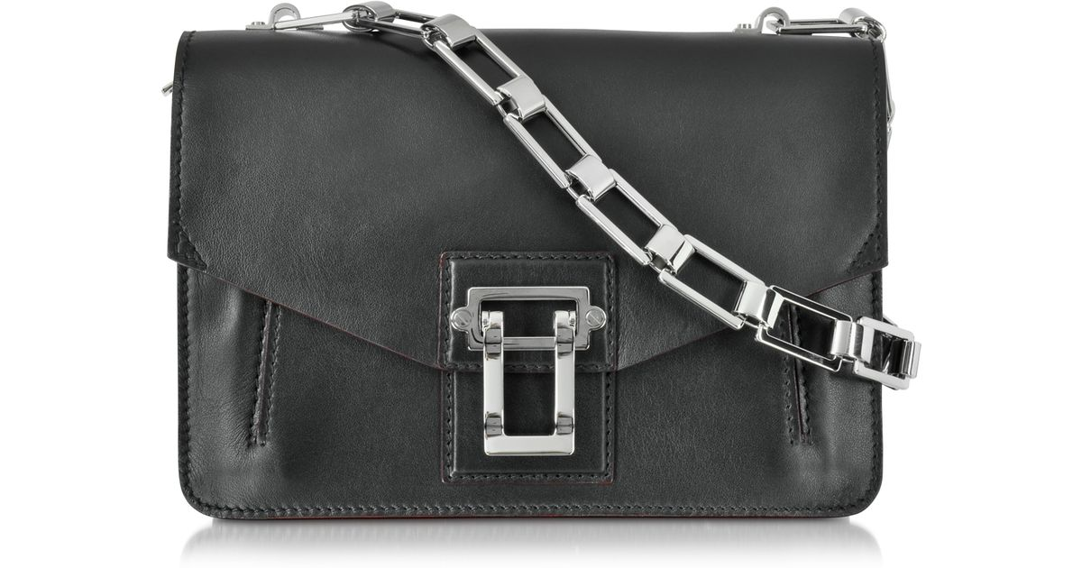 a918aca73 Proenza Schouler Hava Leather Chain Shoulder Bag in Black - Lyst