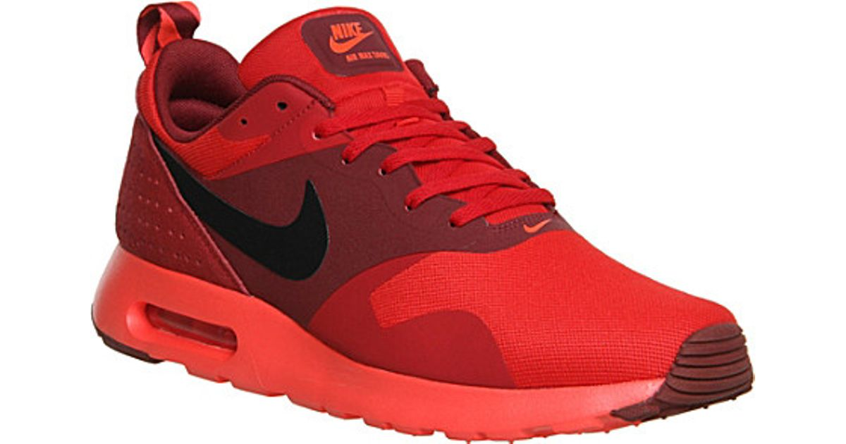 0b94d003fa ... order nike air max tavas trainers for men in red for men lyst 7ca7d  a11f5